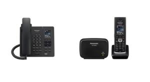 Panasonic Teléfonos DECT SIP inalámbricos KX-TPA65, KX-TGP600